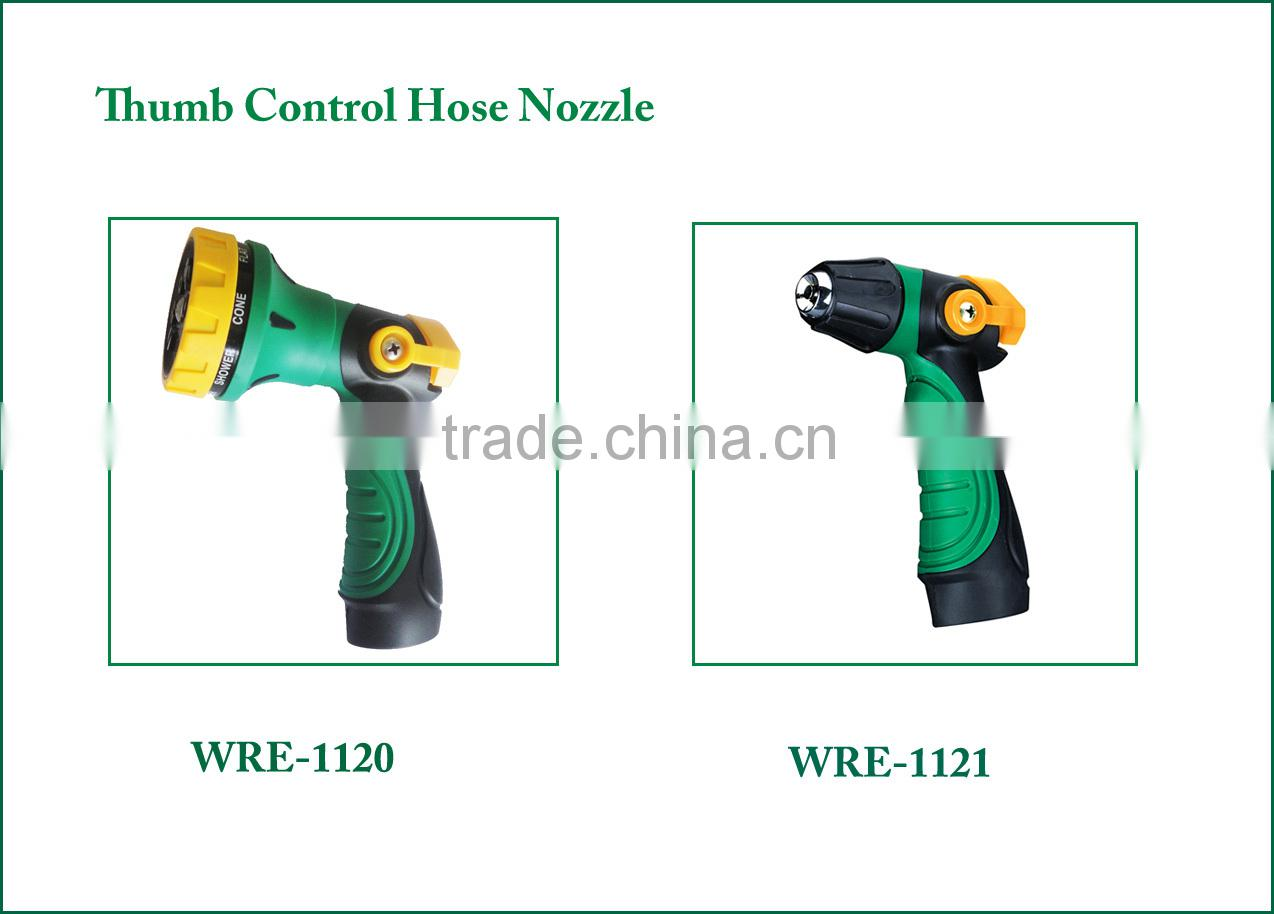 (84715) 8 function sprayer, TPR covered handle 8 patterns ABS rotary hose end spray