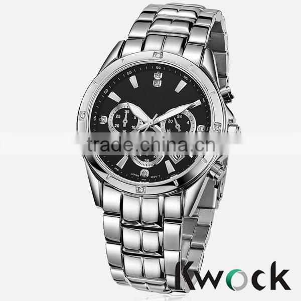New Quartz Hours Stainless Steel Water Resistant Men Analog Leisure Wrist Watch