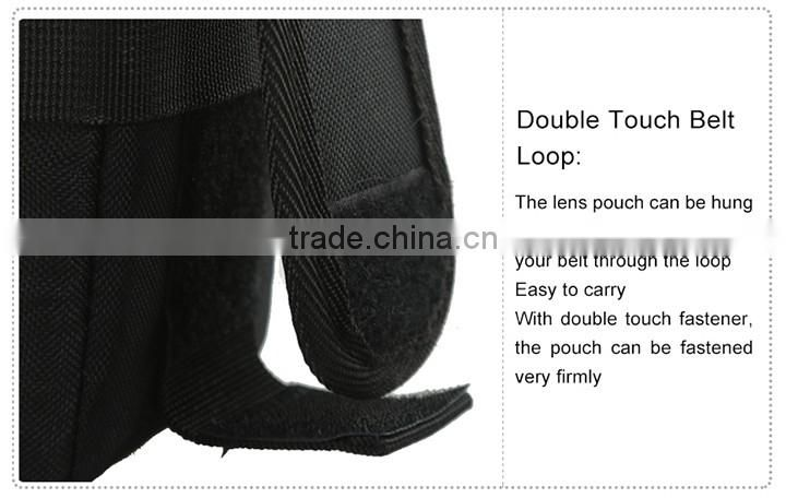 JJC Polyester Fibre Weather-resistant Deluxe Lens Pouch Bag Case with Strap for TAMRON for SIGMA