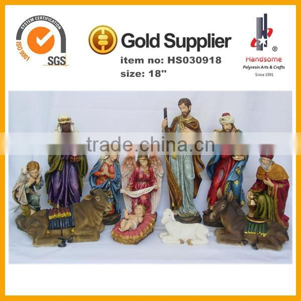 12''Customized 3D lovely nativity set polyresin figurine