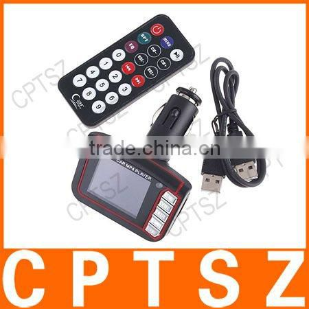 "1.8"" LCD Car MP3 MP4 Player Wireless FM Transmitter with SD MMC + Remote Control"