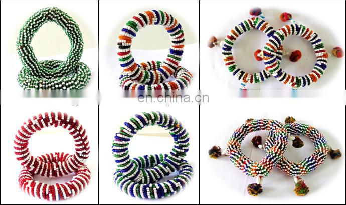 Wholesale Belly dance bangles with pom pom / Afghani Bangles / bridal Bangles/Bohemian Jewelry / Christmas Gift / Gift for her