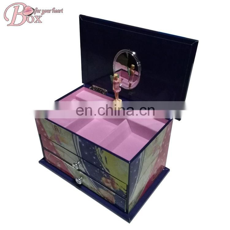 Custom Cardboard Ballerina Music Box with Drawer