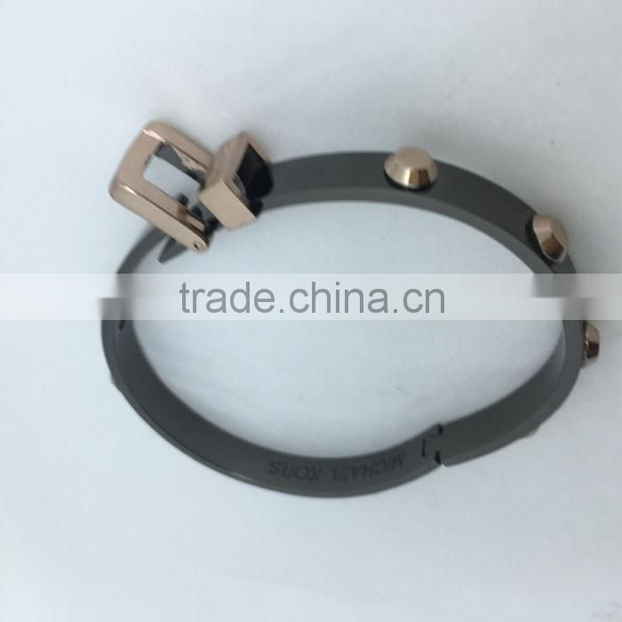 Alloy electroplating processing double color process bracelet plating processing