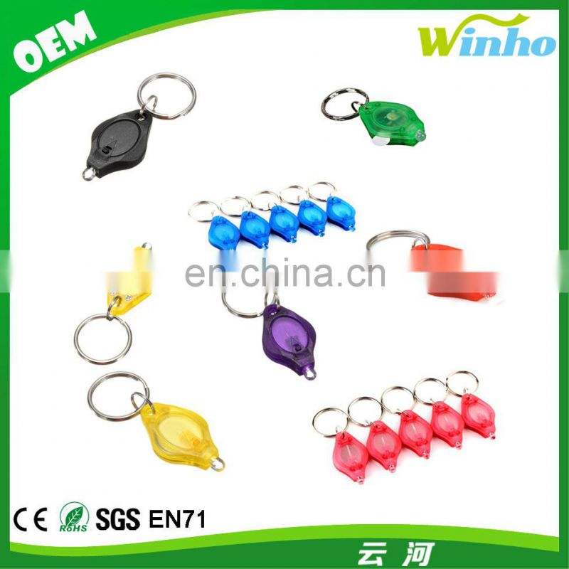 Winho plastic green mini LED light torch key with white light
