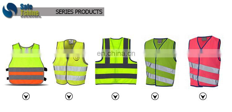 high visibility fluorescence cheap reflective safety child vest