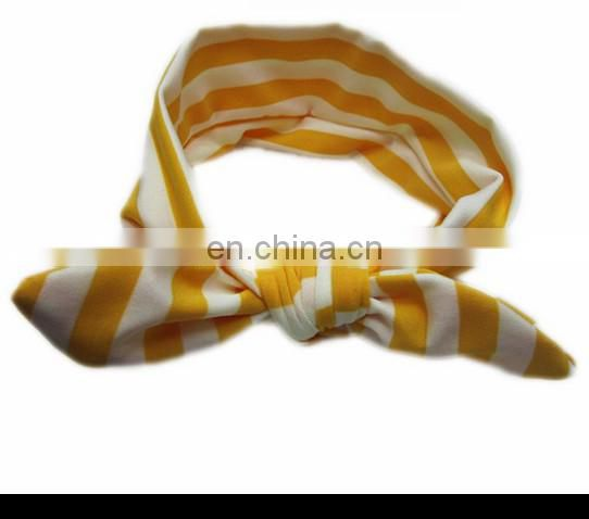 Toddler Stripe Headbands With Bows Baby Turban Headband Baby Bows For Baby Birthday Gift