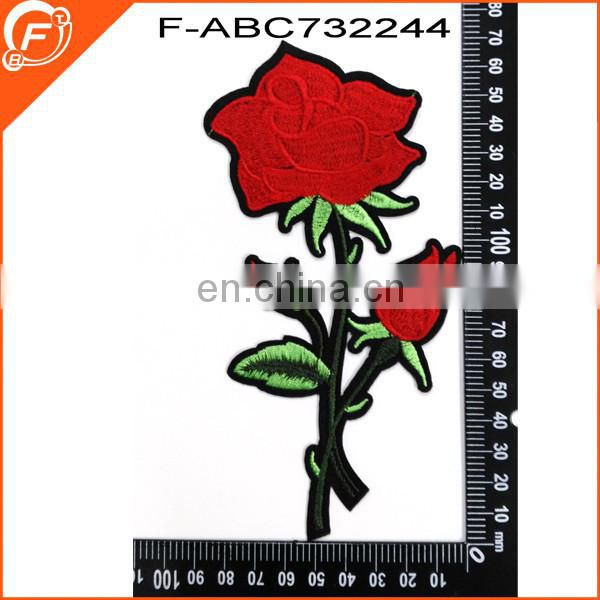Fresh and colorful flower custom badges, 3D glow in the dark embroidered patch