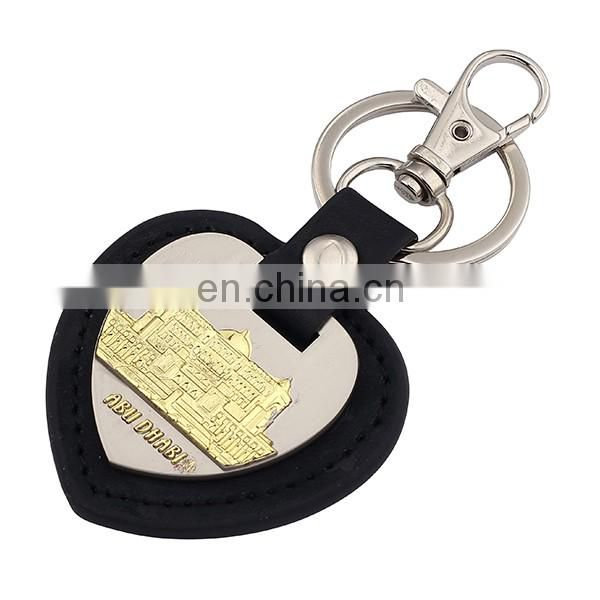 2016 Hot Sale PU Leather Keychain With Embossed Logo