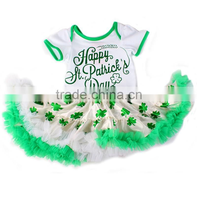 2016 baby girls tutu romper,st patricks day girls clothing