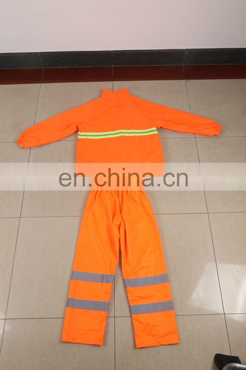 High visibility roadway working wear reflective safety coverall garment