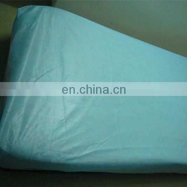 Nonwoven disposable medical bed cover with elastic for hospital