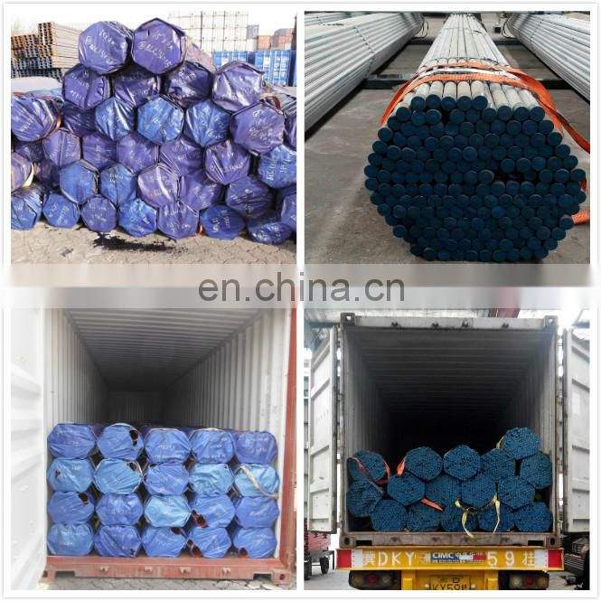 Tianjin factory carbon 8 inch gi construction material galvanized steel pipe emt conduit price with CE certificate