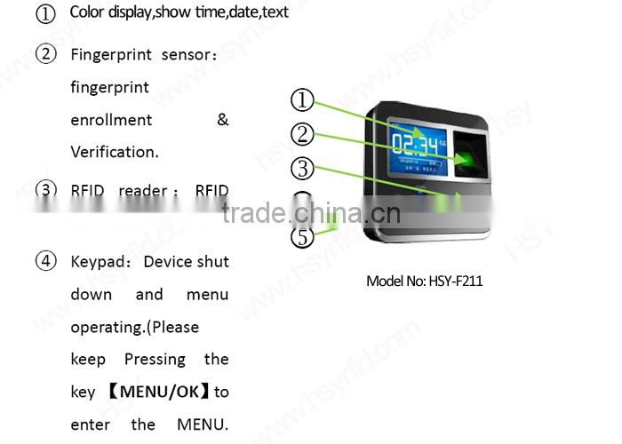 HSY-F211 Digital Sensor Output Free Software Fingerprint