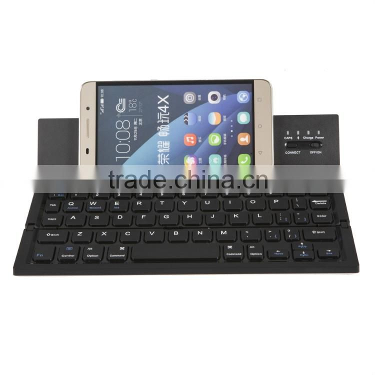 Vensmile newest portable foldable bluetooth mini keyboard with battery for IOS Android phone Black Computer keyboard