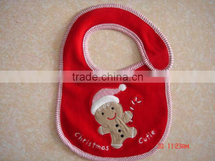 cotton baby bibs for infants & toddlers&children customized printing or emboridered logo available Image