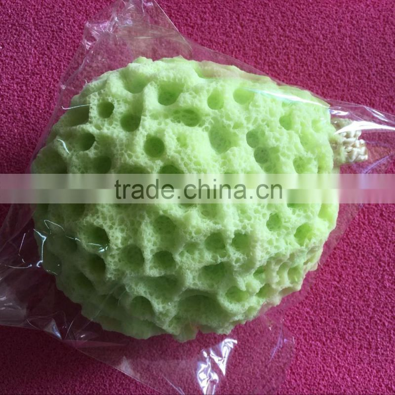 Soaked in water swelling hydrophilic polyurethane bathing cotton series various flavors bath balls