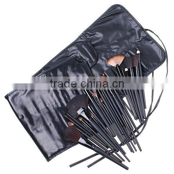 Professional Makeup Brush Set 32 PCS Cosmetic Facial Make up Brush Kit Wool Makeup Brushes Tools Set with Black Leather Case