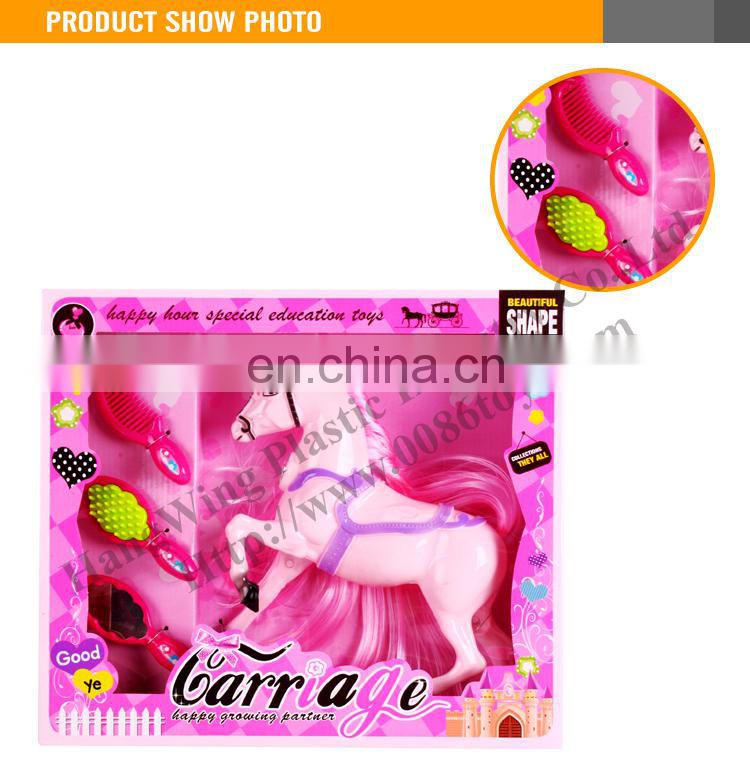 Pink Gilrs plastic horse toy
