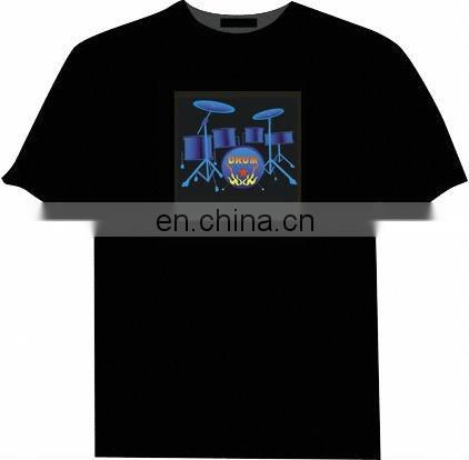 New trendy electronic display t-shirt unique pattern t-shirts EL flash t-shirts