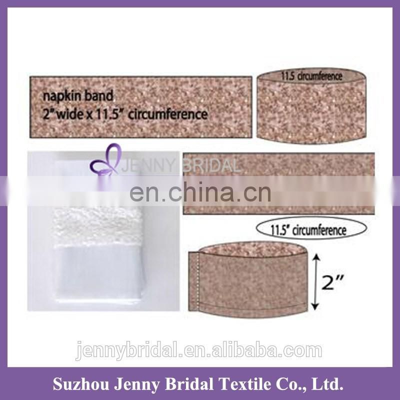 NBAND01 satin band napkin or fabric sequin or napkin decoration