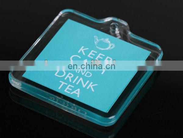 RECTANGLE CLEAR ACRYLIC KEYCHAIN