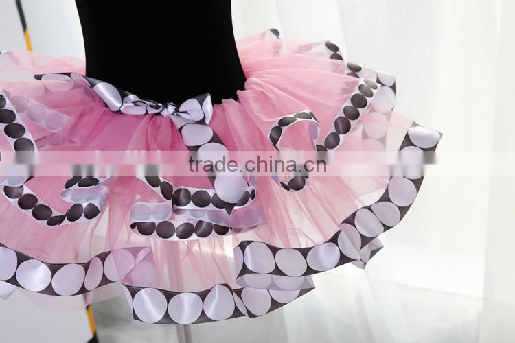 D008003 Professional Child ballet tutu dress skirt with pearl necklace for kids fancy dance costumes