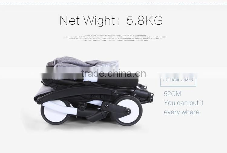 Light weight baby stroller small size 360 degree wheels