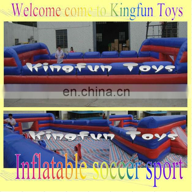 Human table inflatable football games with floor