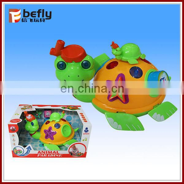 Intelligent plastic electric toy turtle