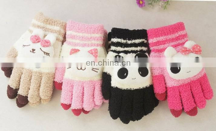 New products winter cartoon touch gloves touch screen winter gloves smart touch gloves