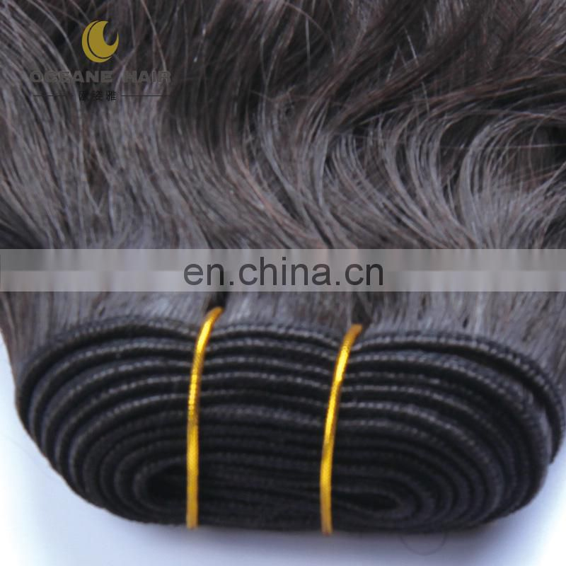 No shedding no tangle high quality wet and wavy indian remy top quality hair weave