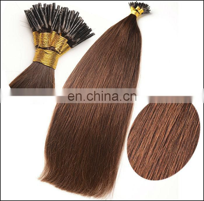 i tip Straight hair extensions offer all kinds of colors hair