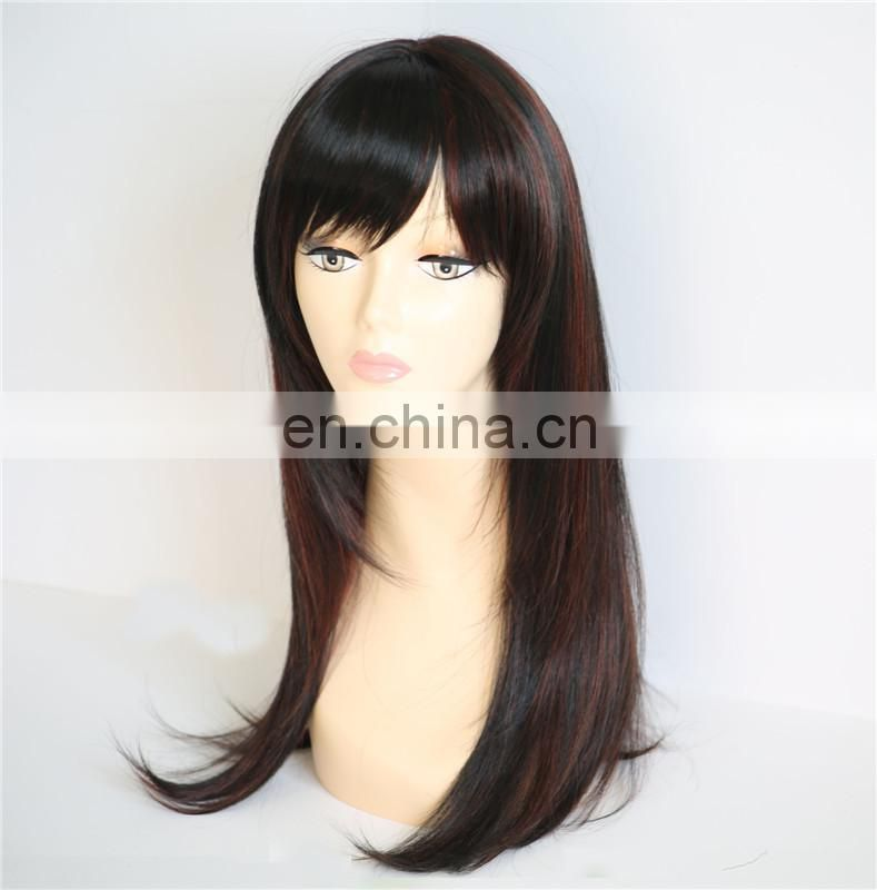 top quality natural heat fiber synthetic hair wig wholesale ,fashion straight best selling hair wig products in america