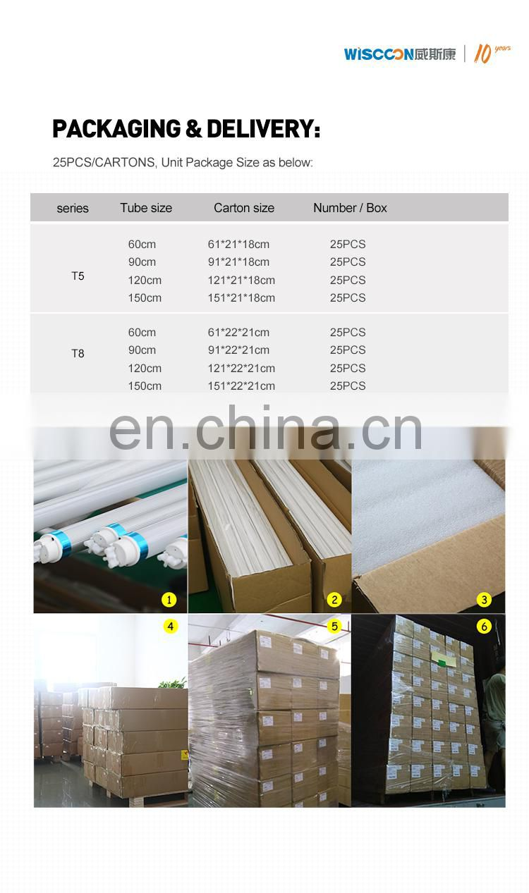 Hot sale cheap price G13 single or double 10w 15w 21w tube light  day light T5 T8 led tube