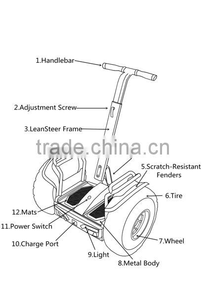 2015 new arrival factory OEM two wheel electric scooter with CE and FCC