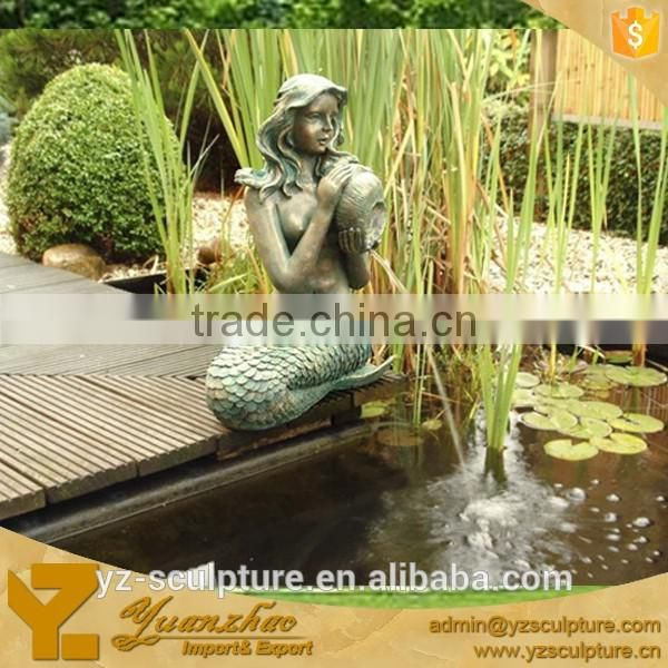 Garden Bronze Large Size Mermaid Water Fountain