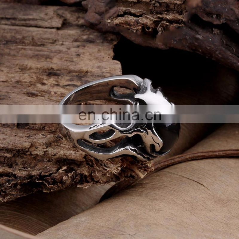 Retro Punk Stainless Steel Mens Rings for Wholesale