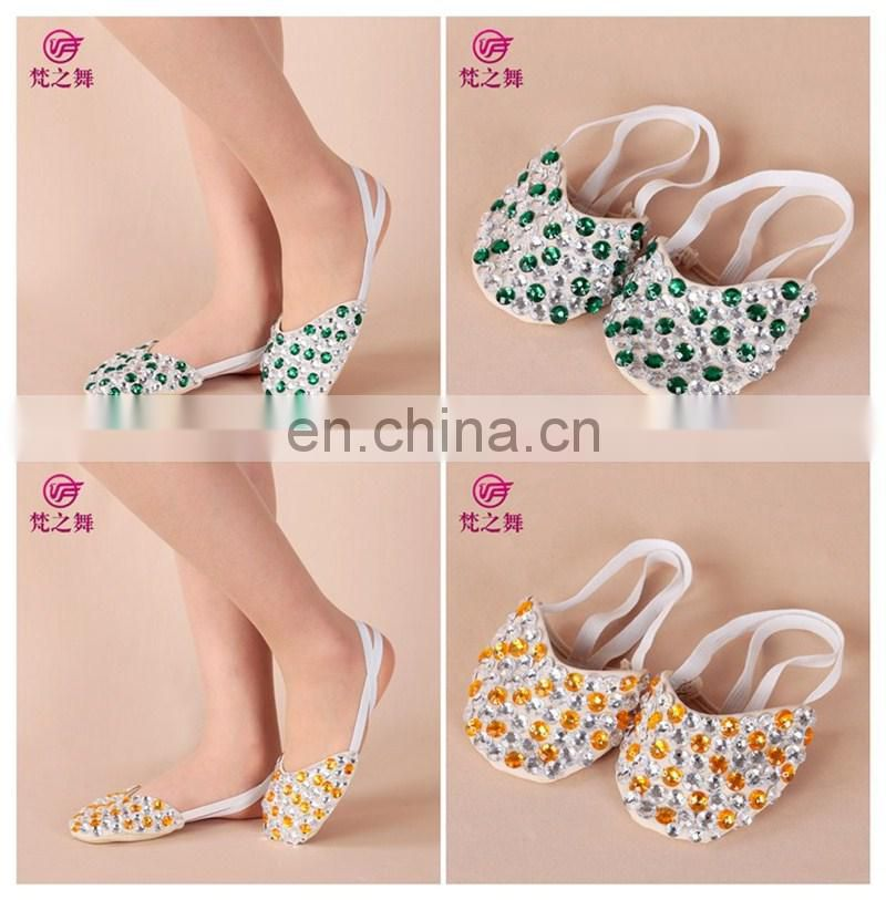 Factory wholesale colourful ballet shoes with bead, flexible ballet shoes cheap X-8059
