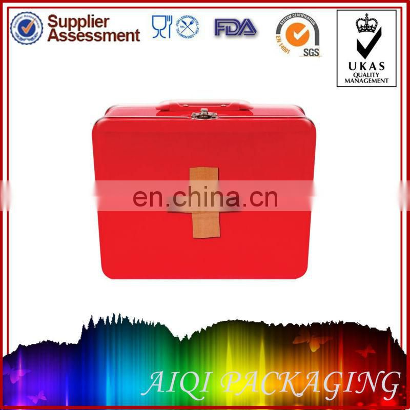 First Aid Metal Tin box