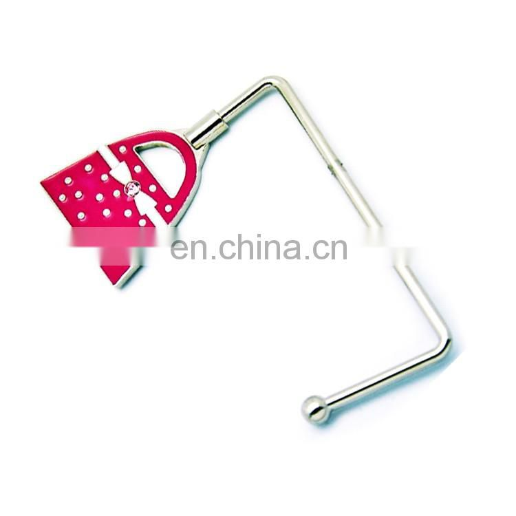 Portable custom logo purse hanger hook