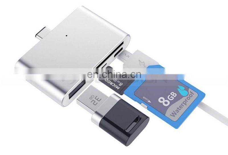 USB 2.0 Smart Card Read Multi-function Card Reader SD Card TF OTG For PC Phone
