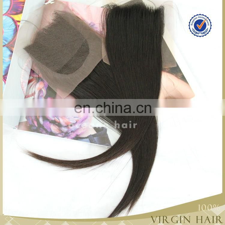 Real virgin brazilian hair closure lace frontal