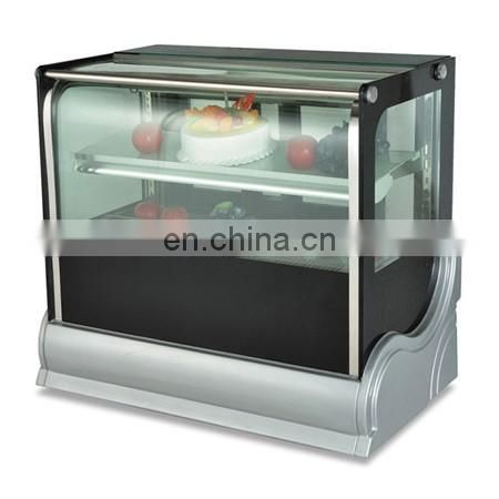 The Manufacture of 2 Layer Cake Display Refrigerator Freezer Glass Display Cake Showcase