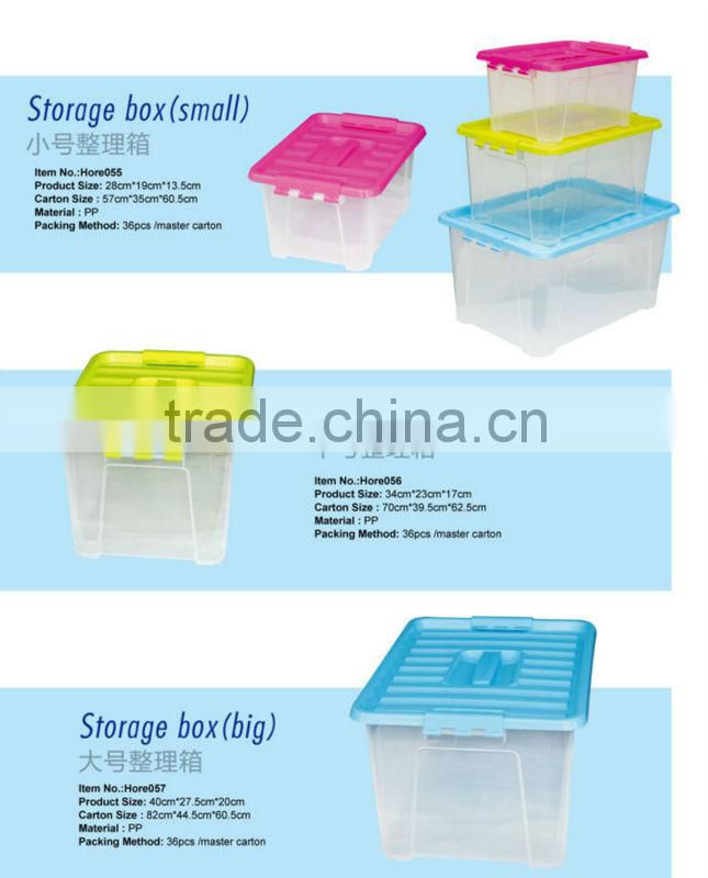 plastic storage box transparent plastic box with hande