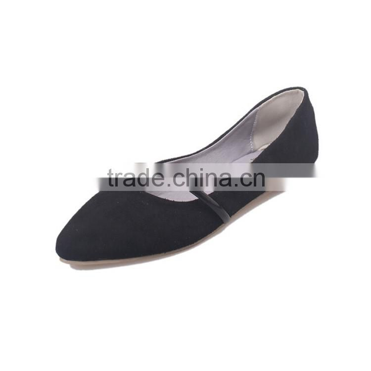 Navy pointy toe texturing flat shoes Women ballet flats footwear Fancy flat navy shoes for women