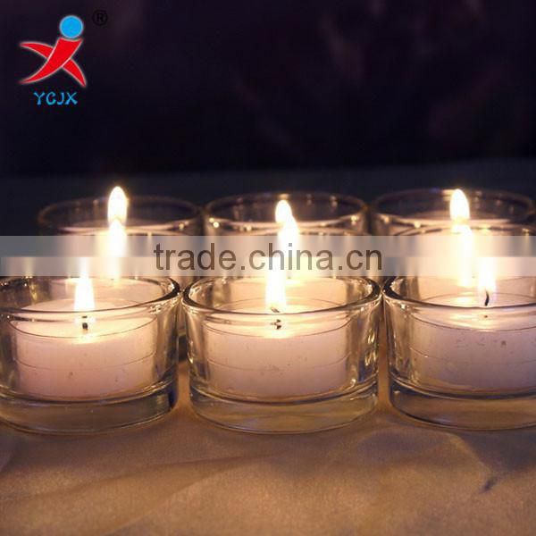 Glass candle holders Eropean romantic dinner little candles wedding decorations KTV Bar candle cup