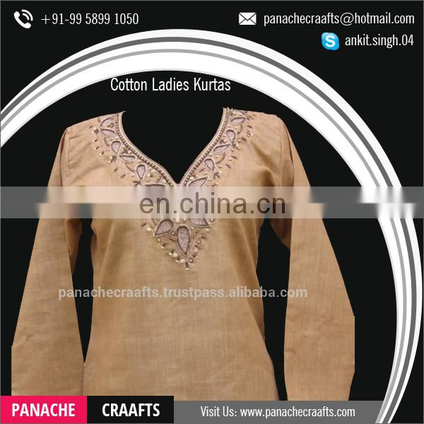 Wholesale Latest Fashion Embroidered Clothes Ladies Long Kurti Designs