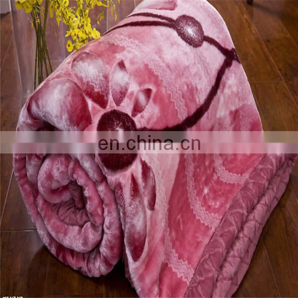 Cheap printed coral fleece blankets stock