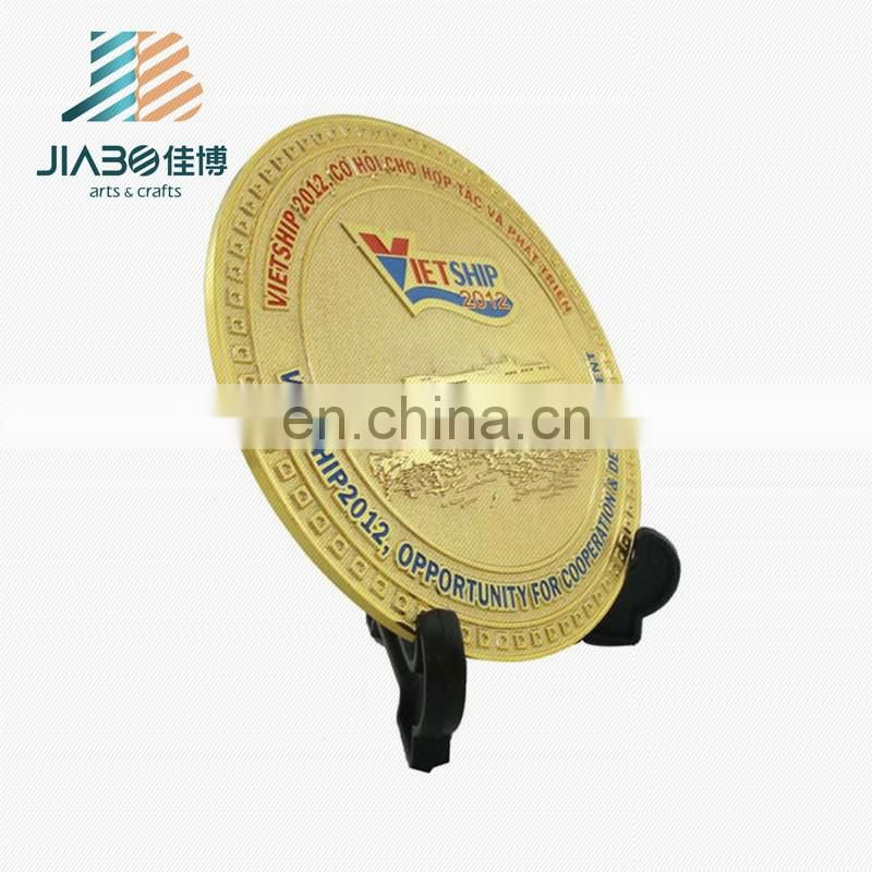 High quality fashion design custom tourist blank metal souvenir plate